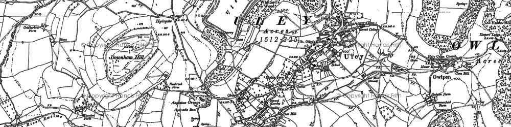 Old map of Uley in 1882