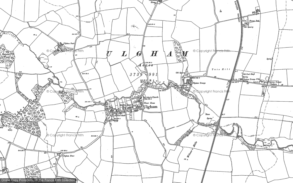 Old Map of Historic Map covering Bailiff's Letch in 1896