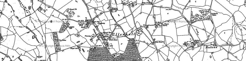 Old map of Ullenhall in 1886