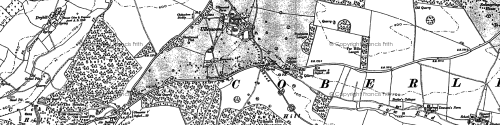 Old map of Air Balloon (PH) in 1883