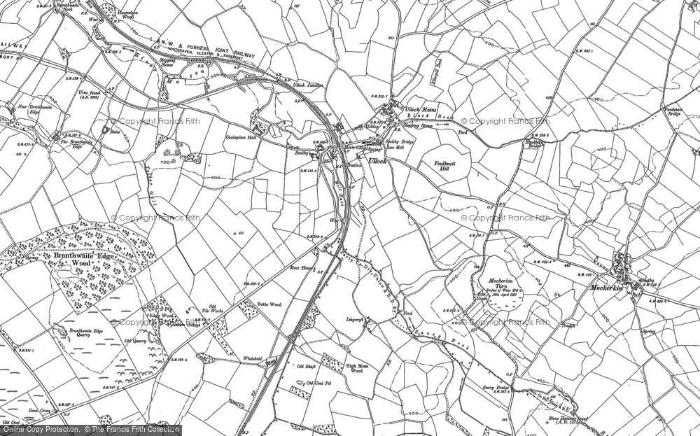 Old Map of Historic Map covering Todhole in 1898