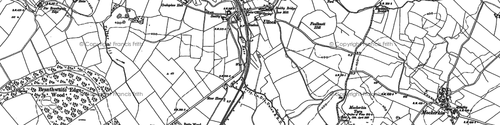 Old map of Lingcroft in 1898