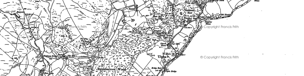 Old map of Whistling Green in 1897