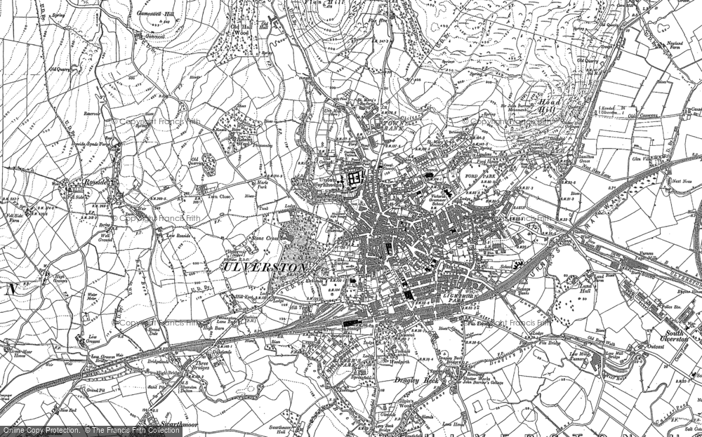 Old Map of Ulverston, 1911 in 1911