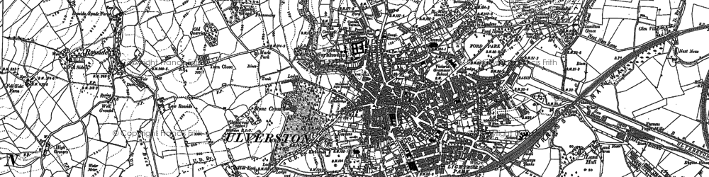 Old map of Ulverston in 1911