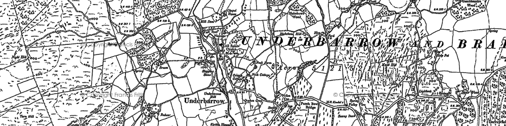 Old map of Lindreth Brow in 1897