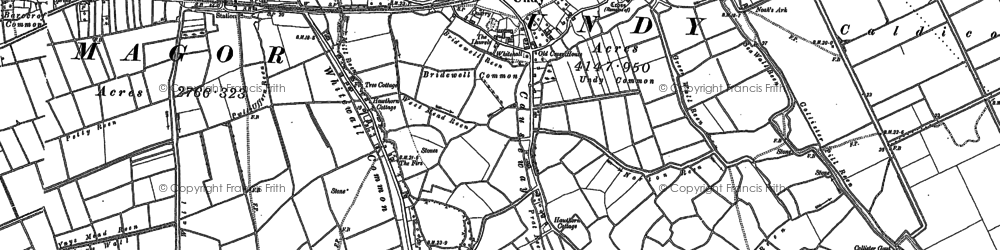 Old map of Undy in 1900