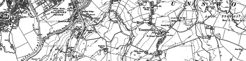 Old map of Thurston Fold in 1891