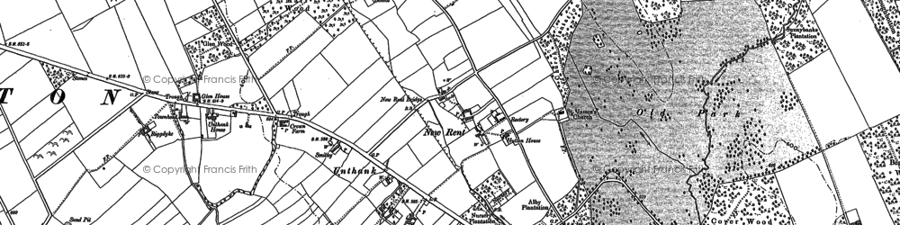 Old map of Auldby in 1898