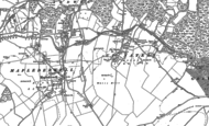 Old Map of Up Nately, 1894