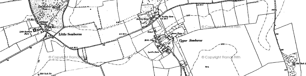 Old map of Ashley in 1894