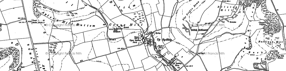 Old map of Ayles's Hill in 1887
