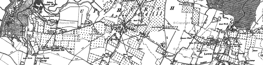 Old map of Wetham Green in 1896