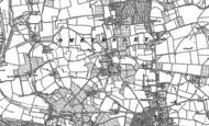 Old Map of Uphampton, 1883