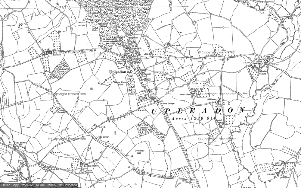 Old Map of Upleadon, 1882 in 1882