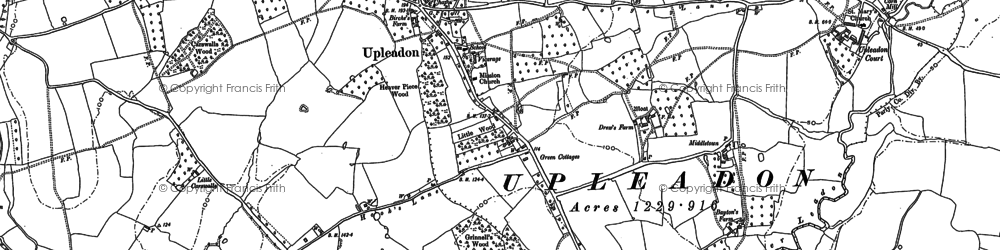 Old map of Upleadon in 1882