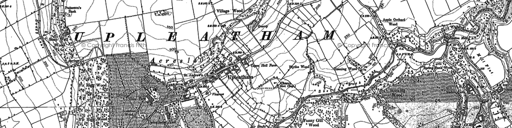 Old map of Upleatham in 1893