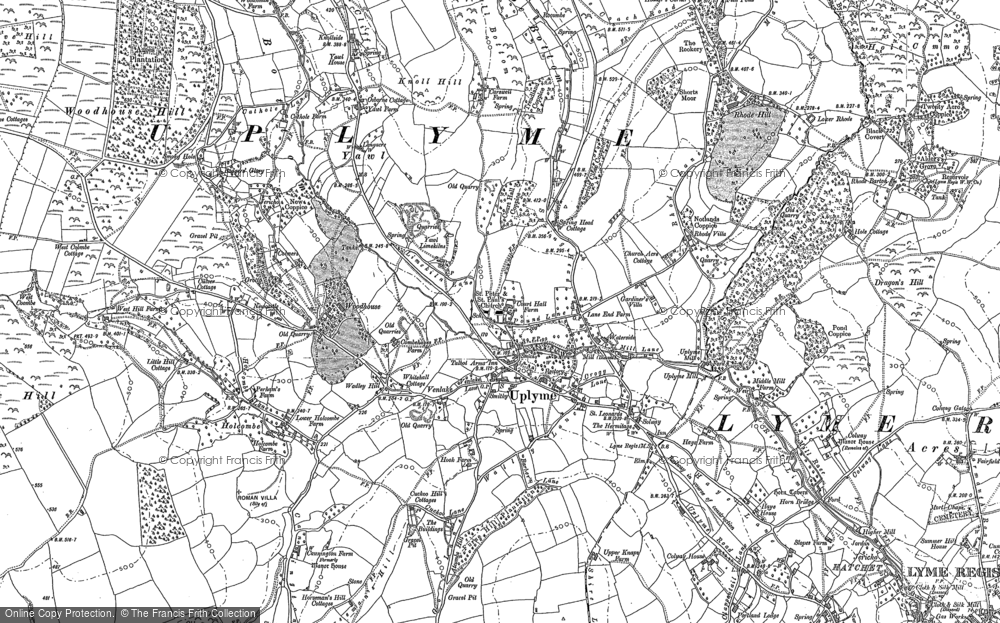 Old Map of Historic Map covering Woodhouse in 1903