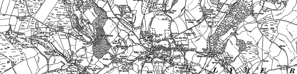 Old map of Woodhouse in 1903