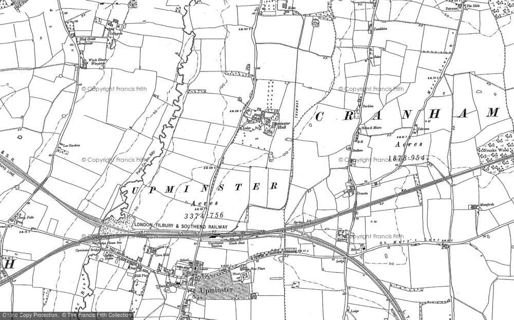 Map of Upminster, 1895