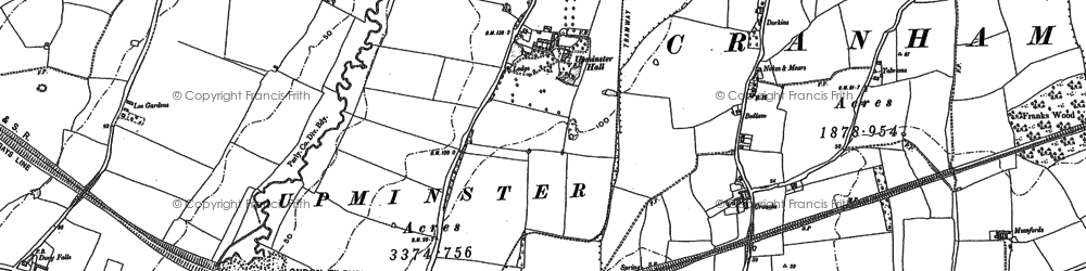 Old map of Lillyputts in 1895