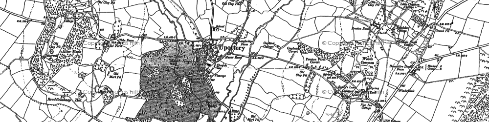 Old map of Upottery in 1887