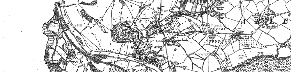 Old map of Upper Arley in 1883
