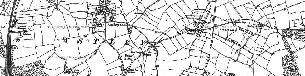 Old map of Astley Grange in 1880