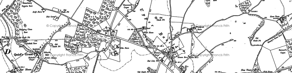 Old map of Upper Basildon in 1910