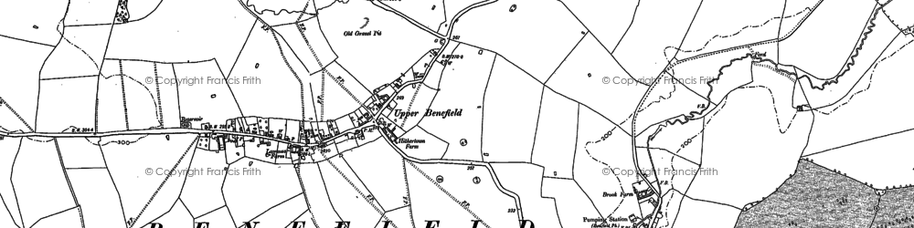 Old map of Yoke Hill in 1884