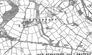 Old Map of Upper Billesley, 1885 - 1886