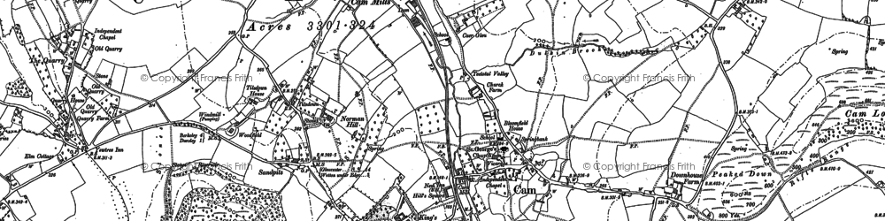 Old map of Upper Cam in 1882