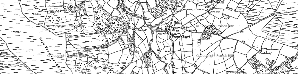 Old map of Baily Brith in 1886