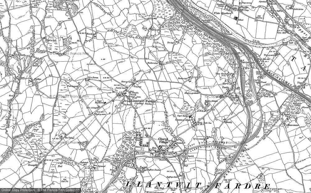 Old Map of Upper Church Village, 1897 - 1898 in 1897