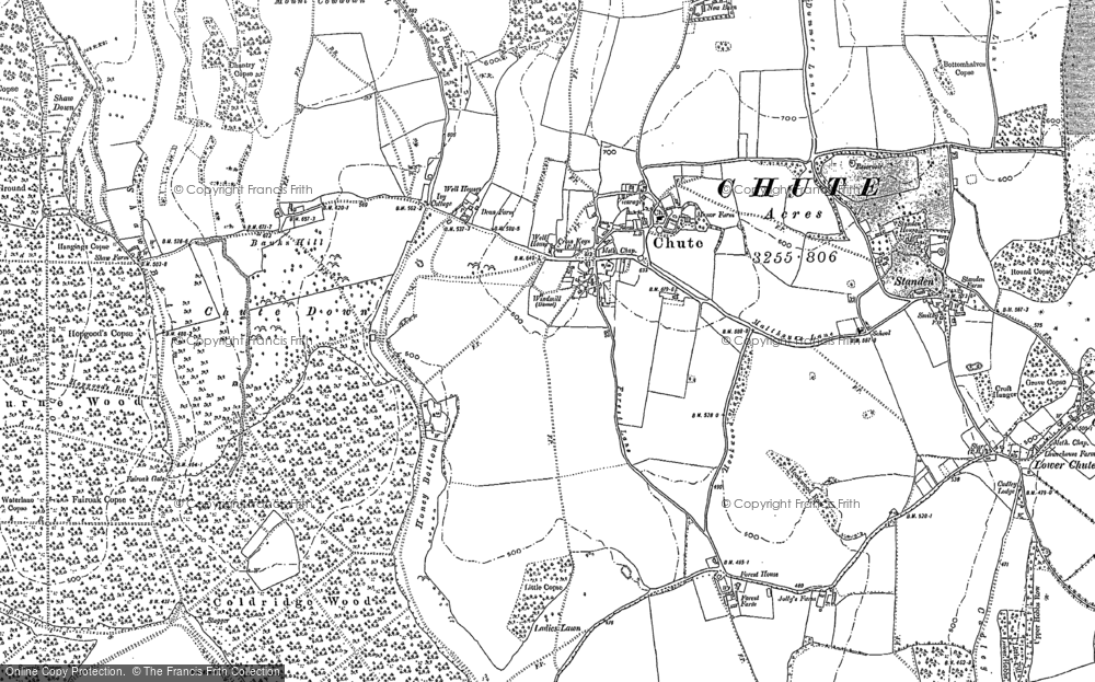 Old Map of Historic Map covering Limmer Pond in 1923