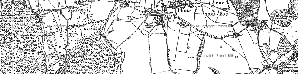 Old map of Limmer Copse in 1923