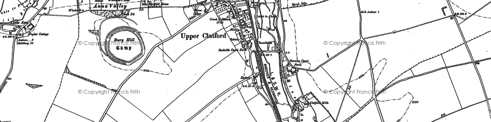 Old map of Upper Clatford in 1894