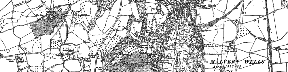 Old map of Linden in 1884
