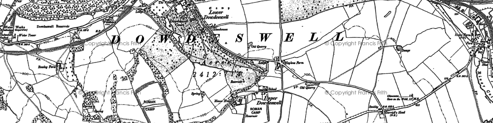 Old map of Upper Dowdeswell in 1883