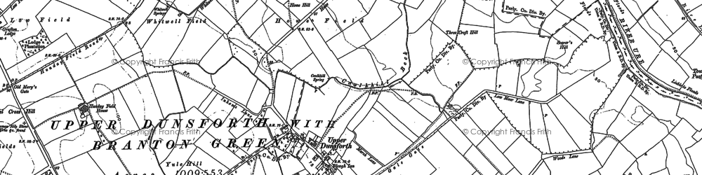 Old map of Aldwark in 1892
