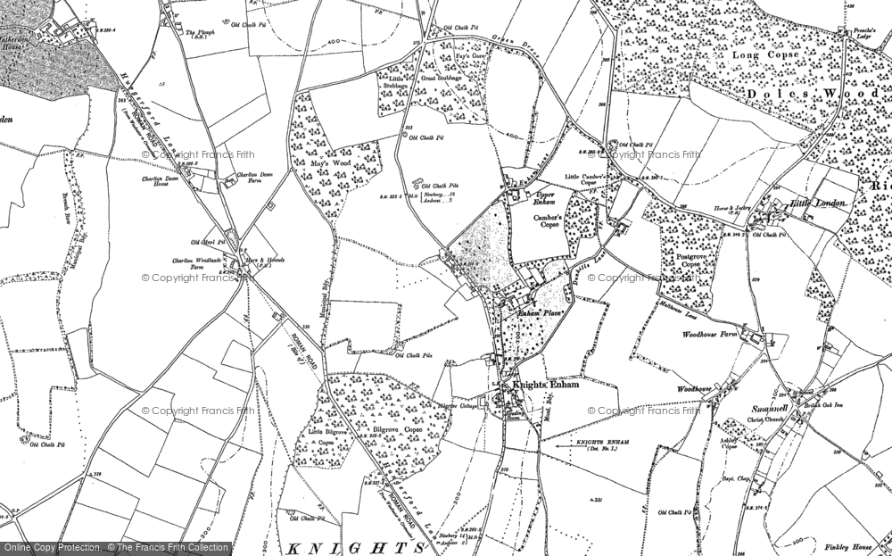 Old Map of Historic Map covering Woodhouse in 1894