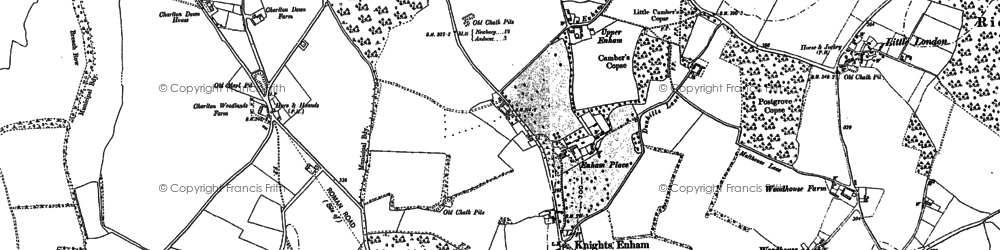 Old map of Woodhouse in 1894