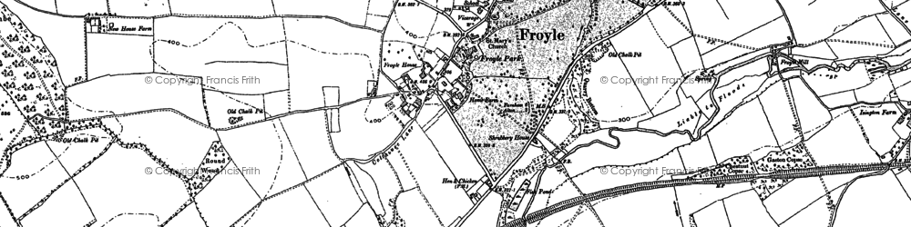 Old map of Yarnhams in 1894