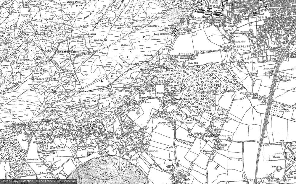 Old Map of Historic Map covering Weybourne in 1913