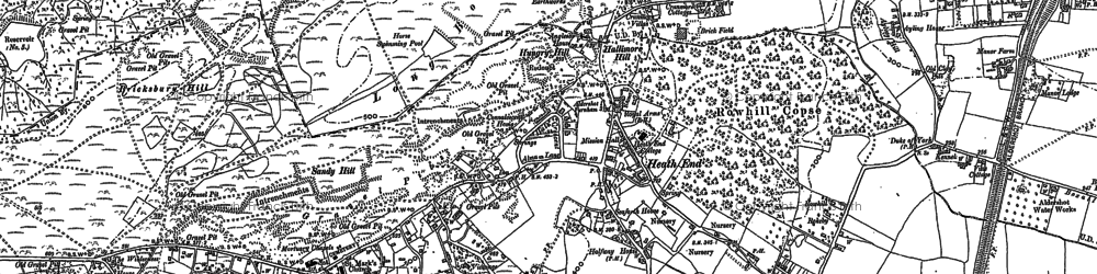 Old map of Weybourne in 1913