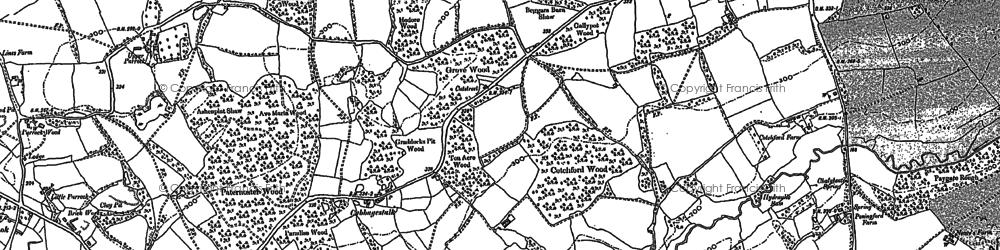 Old map of Ashdown Ho (Sch) in 1897