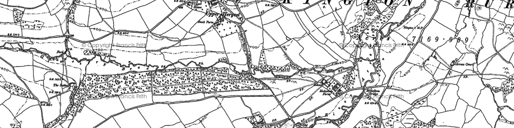 Old map of Brilley Mountain in 1902