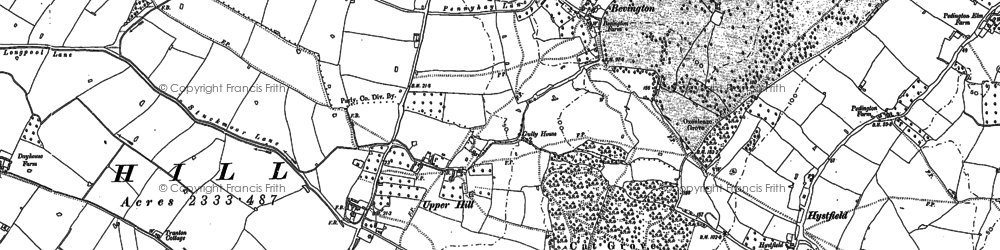 Old map of Willis Elm in 1879