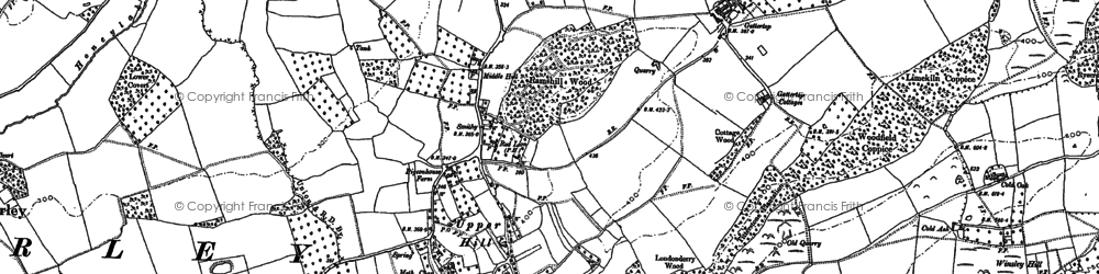 Old map of Westhope Hill in 1885