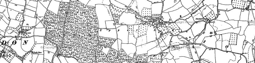 Old map of Ley Court in 1879